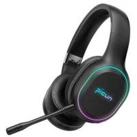 Headset wireless Bluetooth Headphone Gaming Stereo LED Mic - PICUN