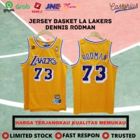 BAJU BASKET JERSEY BASKET CLASSIC NBA LA LAKERS DENNIS RODMAN #73 - Kuning, XXL