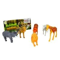 Mainan Anak Wild Animal World Figure Binatang Safari Hewan Buas Isi 6