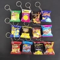 Gantungan Kunci Souvenir Miniatur Snack Makanan Minuman Lucu Unik