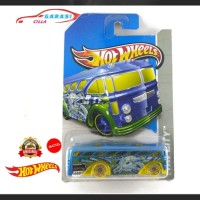 Hotwheels Miniatur Surf'up Bus Warna Biru HW CITY