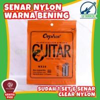 Senar Gitar Nylon Hard Tension Clear & Silver Jacketed Orphee NX35