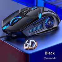 Mouse Gaming Wired G5 Kabel 6D 4-Speed 3200 DPI RGB - Black silent