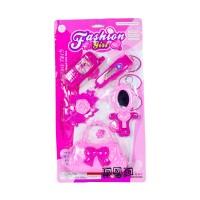 Mainan Anak Perempuan Fashion Girl Beauty Dresser Alat Salon Pink