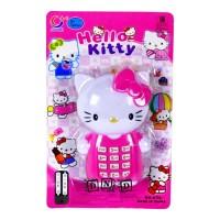 Mainan Anak Telepon Musik Hello Kitty Kucing Imut Music Phone Pink