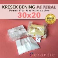 Kresek Bening Transparan 30 x 20 PE TEBAL untuk Box Dus 30x20 cm