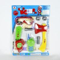 Mainan Edukasi Anak Tool Set Alat Pertukangan Gergaji Kampak Hate