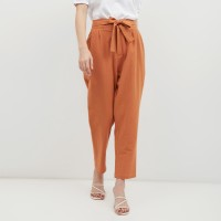 NONA Basic High Waist Pants Terracotta
