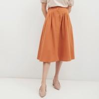 NONA Basic Midi Skirt Terracotta