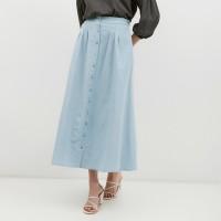 NONA Basic Maxi Skirt Dusty Blue