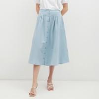 NONA Basic Midi Skirt Dusty Blue