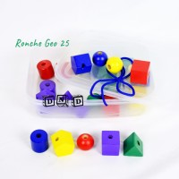 Mainan Edukatif / Edukasi Anak - Ronche Kayu Geo 25 Pcs