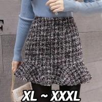 (#9803 XL/XXL/XXXL)Thylane Skirt/Rok Mini/Rok Pendek/Rok pesta