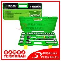 KUNCI SOCK SET 1/2 DR 24 PCS 6 PT (PLASTIK) TEKIRO SC-SE0613