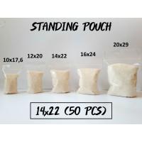 Standing Pouch 14 x 22 (50 pcs) / Plastik Klip Berdiri Termurah!!