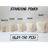 Standing Pouch 16 x 24 (50 pcs) / Plastik Klip Berdiri Termurah!!