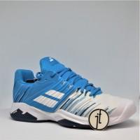 Sepatu Tenis Babolat Propulse Fury White Blue Astar Tennis Shoes