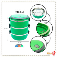Rantang Stainless Steel Ware 3 Susun - Lunch Box 2100ml LB-03