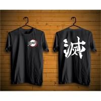 tshirt anime kimetsu no yaiba logo