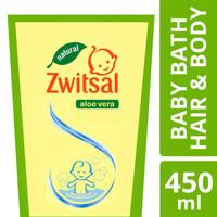 Zwitsal Baby Bath Natural Hair & Body 2in1 Refill 450ml Pouch Sabun
