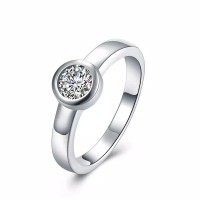 Tiaria Minimalist Daily Ring Cincin Lapis Silver Plated SPCR862-7