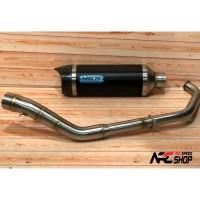 Knalpot Arrow Thunder Black CBR 150R Facelift K46 Fullsystem Italy
