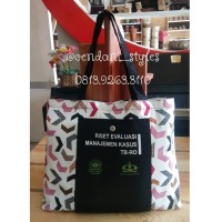Tas Lipat Full Kanvas sablon souvenir tas belanja kuat lucu custom