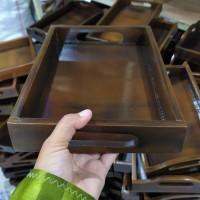 Baki Kayu / Nampan Kayu / Tray Kayu warna gelap 28 x 18 cm