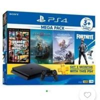 PS4 Slim 1TB Mega Pack Bundle 4 Game Garansi Resmi SONY Type CUH-2218B