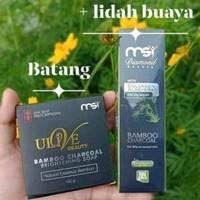 Paket Sabun Bamboo MSI Padat & Liquid + Free Bros Dagu & Bubble Wrap