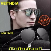 Kacamata Polarized Hitam Pria Wanita Original VEITHDIA 6698
