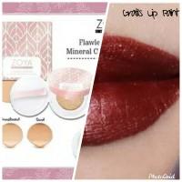 Zoya Cosmetics Flawless Mineral Cushion Sand/Translucent+Lip Paint