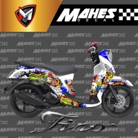 Decal Sticker Fullbody Yamaha Fino Fi Plus Dasbor Zombie Minion
