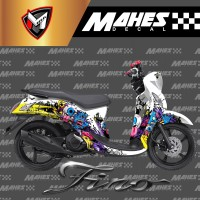 Decal Sticker Fullbody Yamaha Fino Fi Plus Dasbor Desain Zombie MD 01