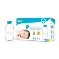 BKA Botol Asi Kaca 4Pcs / 8Pcs Breastmilk Storage Glass Bottle 100ml