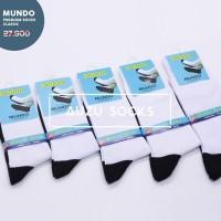 Kaos kaki sekolah mundo putih telapak hitam TK SD SMP SMA - Premium
