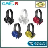 HEADPHONE SONY MDR-XB450AP / HEADSET BANDO SONY XB 450 / EXTRA BASS