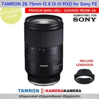 Lensa Tamron 28-75mm F28 Di Iii Rxd For Kamera Mirrorless Sony Fe