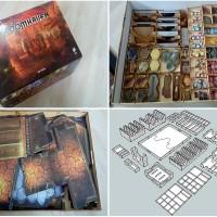 TERBARU Card Game Storage Box Organizer Wooden Receiving Compact
