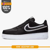 Sepatu Sepatu Sneakers Nike Air Force 1 '07 LV8 Hoops Black Original C