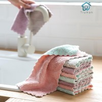 (Ready)Super Absorbent Household Cleaning Cloth Wiping Rags Towel tru