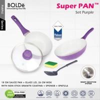 Promo BOLDe Super Pan Granite Set Purple 5 Pcs