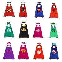 Borong Superhero Jubah (1 Jubah +1 Topeng) Superman Batman Spiderman