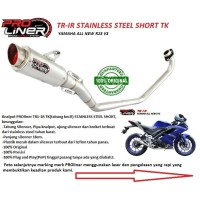 KNALPOT RACING PROLINER TR-1R SHORT TK ALL NEW R15 R 15 V3 ORI