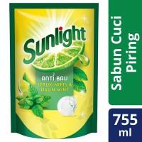 Sunlight Anti Bau Jeruk Nipis dan Mint 755 ml / Sunlight Mint 755ml