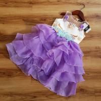 Gaun Pesta Anak Perempuan / Dress Tutu Unicorn Ruffle / Baju Ultah Imp
