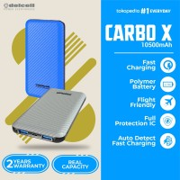 Delcell CARBO X Powerbank 10500mAh Real Capacity Fast Charge - Polymer