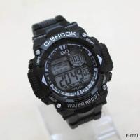 Jam Tangan Pria Sport Q&O Running Rubber Hitam