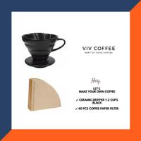 Coffee Maker V60 Pour Over Set Dripper Kopi Keramik Filter Kopi