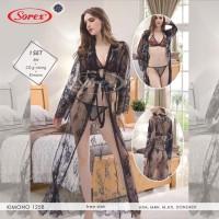 Kimono Set Lingerie Sexy Transparan SOREX Kimono 1258